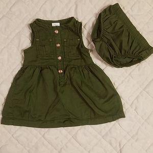 NWOT 3 M Carter's Green Dress 2 Piece Set